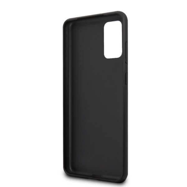 Guess Iridescent Leather Hard Case — дизайнерски кожен кейс за Samsung Galaxy S20 Plus (розово злато) - 4