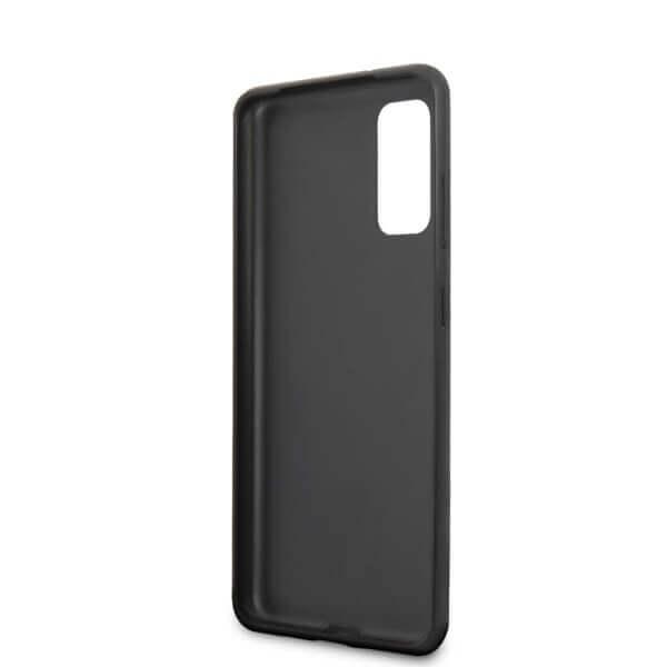 Guess Iridescent Leather Hard Case — дизайнерски кожен кейс за Samsung Galaxy S20 (златист) - 4