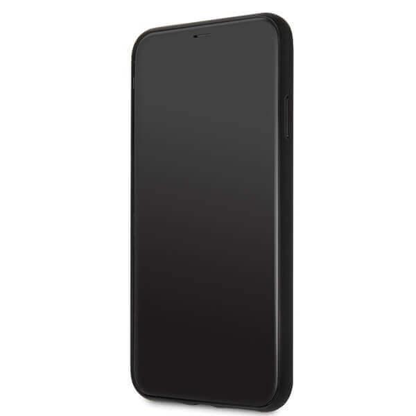 Guess Peony G Double Layer Glitter Case — дизайнерски кейс с висока защита за iPhone 11 Pro Max (червен) - 5