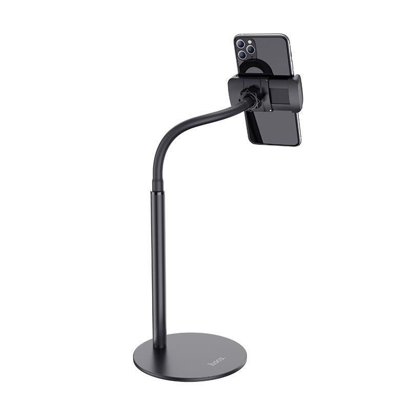 Hoco PH28 Metal Desktop Stand - универсална поставка за бюро и плоскости за мобилни устройства и таблети с ширина до 7 инча (черен) - 3