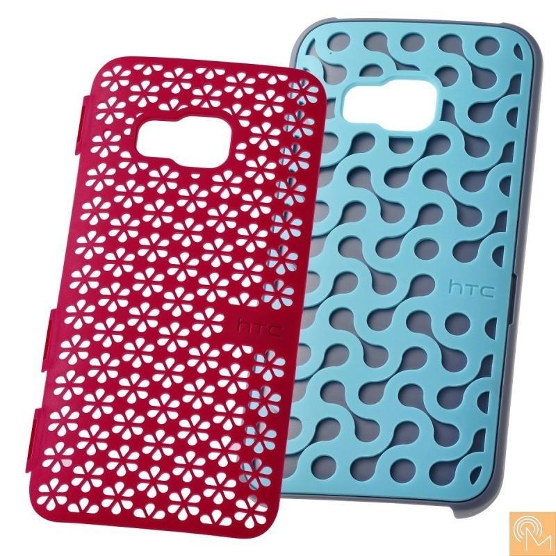 HTC Case Decostand HC K1150 — оригинален кейс с поставка и два задни панела за HTC One M9  - 1