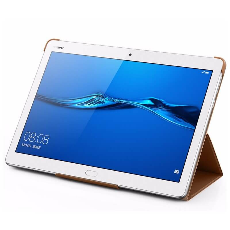 Huawei Flip Cover — оригинален кожен калъф за Huawei MediaPad M3 Lite 10 (кафяв) - 2