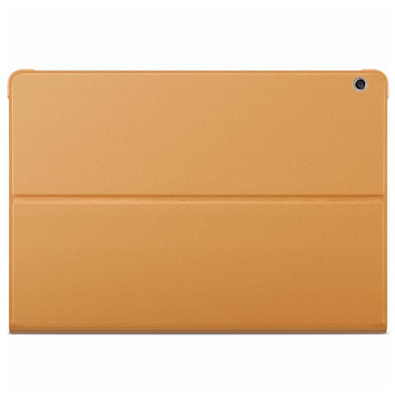 Huawei Flip Cover — оригинален кожен калъф за Huawei MediaPad M3 Lite 10 (кафяв) - 3