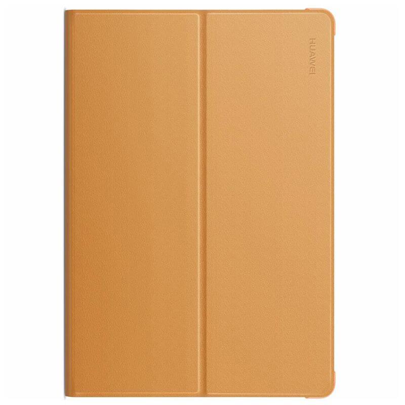 Huawei Flip Cover — оригинален кожен калъф за Huawei MediaPad M3 Lite 10 (кафяв) - 1