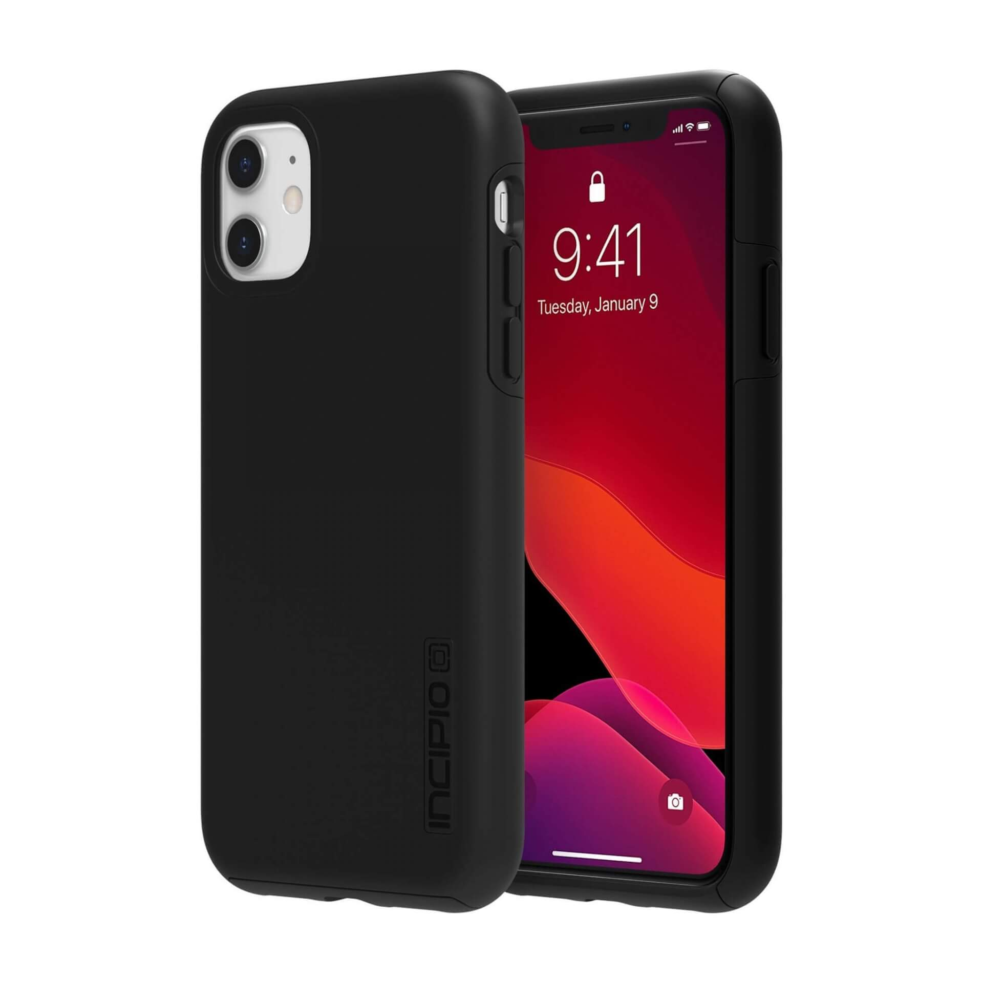 Incipio DualPro Case — удароустойчив хибриден кейс за iPhone 11 (черен) - 1