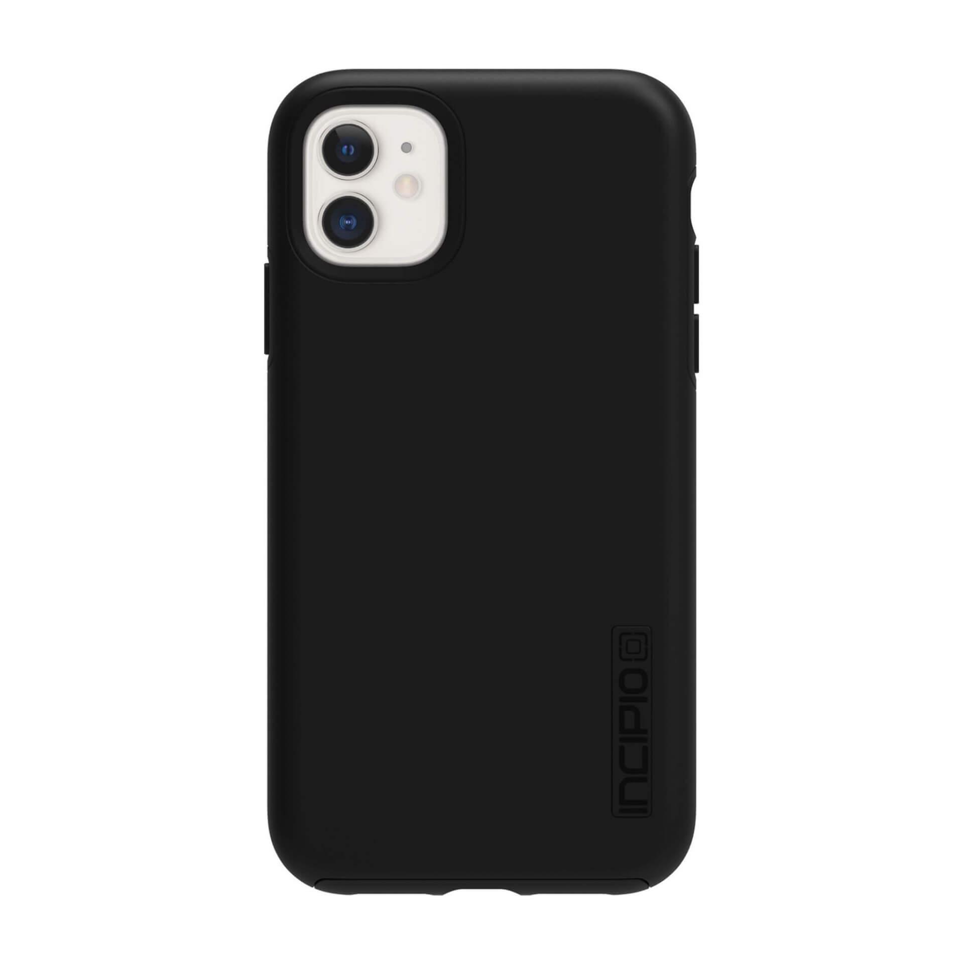 Incipio DualPro Case — удароустойчив хибриден кейс за iPhone 11 (черен) - 2