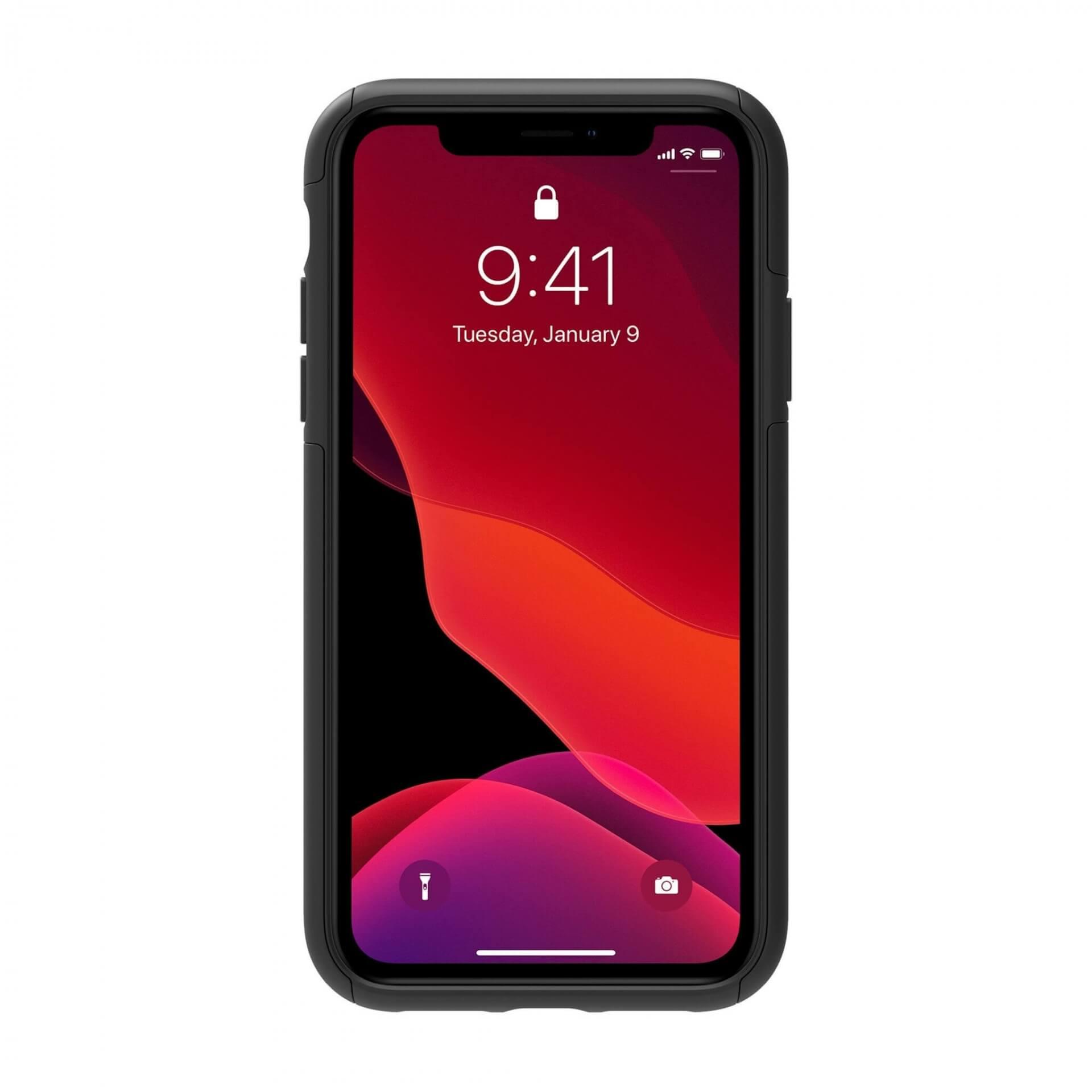 Incipio DualPro Case — удароустойчив хибриден кейс за iPhone 11 (черен) - 5
