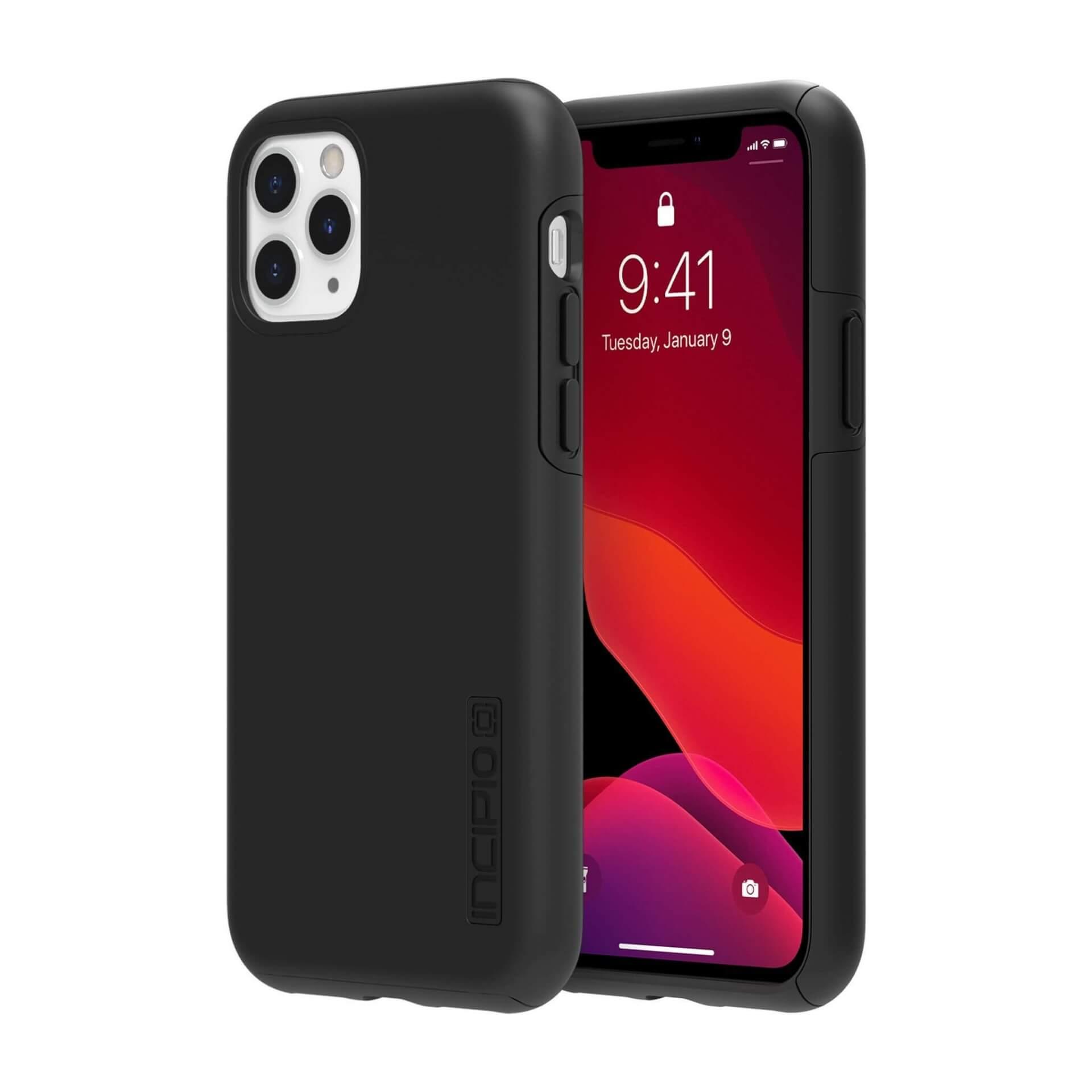 Incipio DualPro Case — удароустойчив хибриден кейс за iPhone 11 Pro (черен) - 1