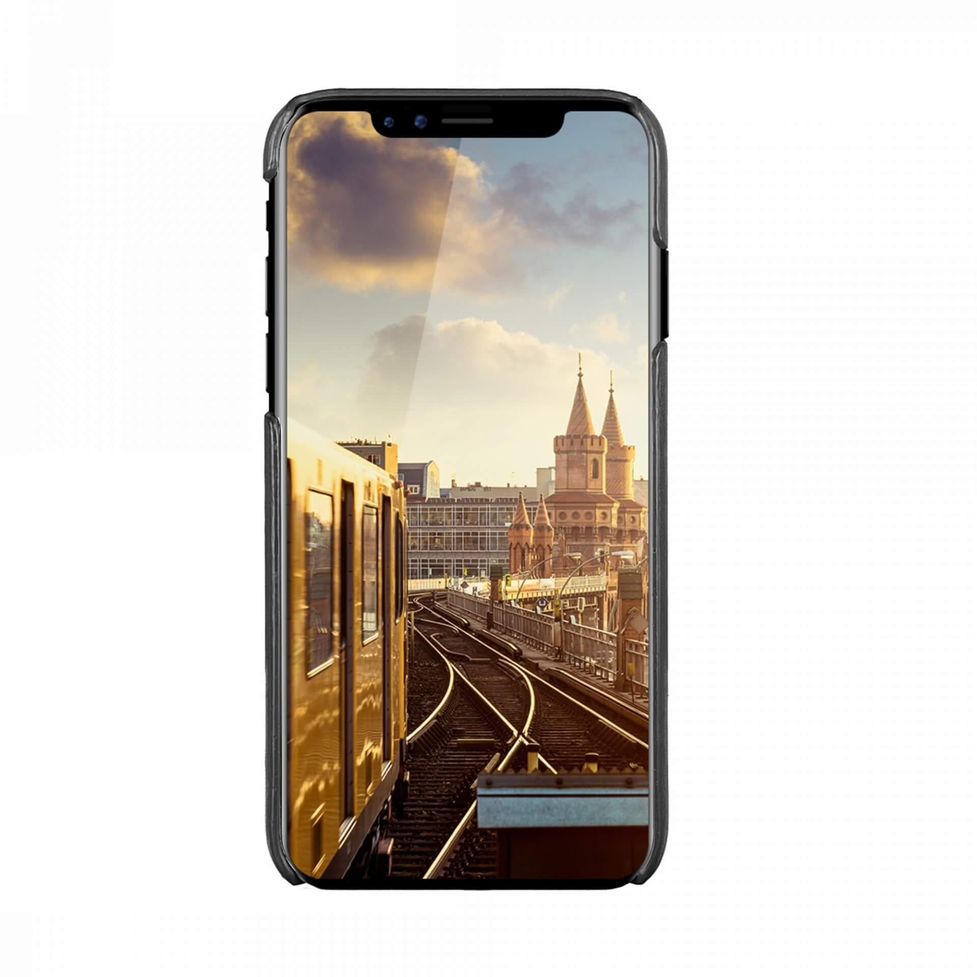 JT Berlin BackCase Kreuzberg — кожен кейс (естествена кожа) за iPhone 11 Pro (черен) - 3
