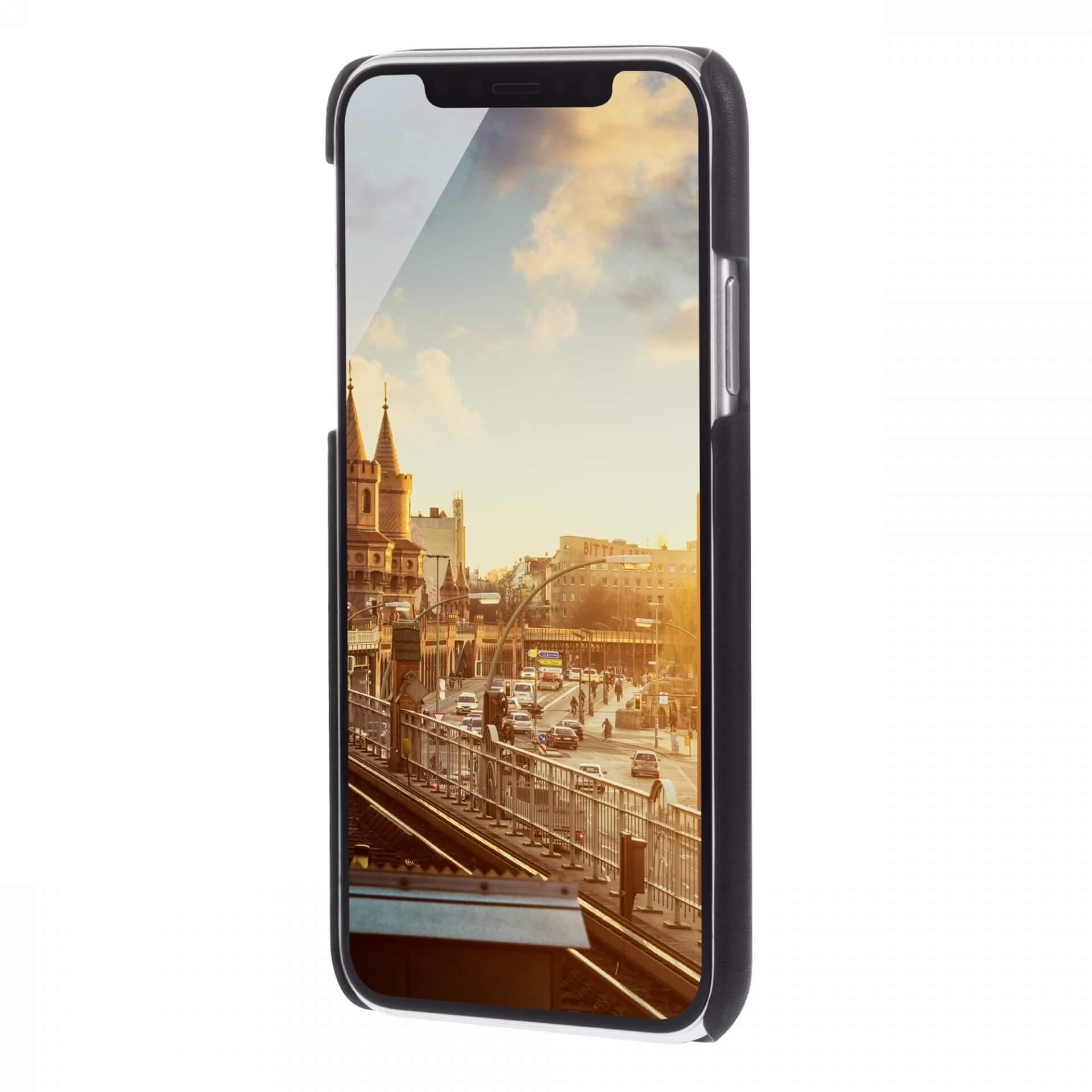 JT Berlin BackCase Kreuzberg — кожен кейс (естествена кожа) за iPhone 11 Pro (черен) - 2