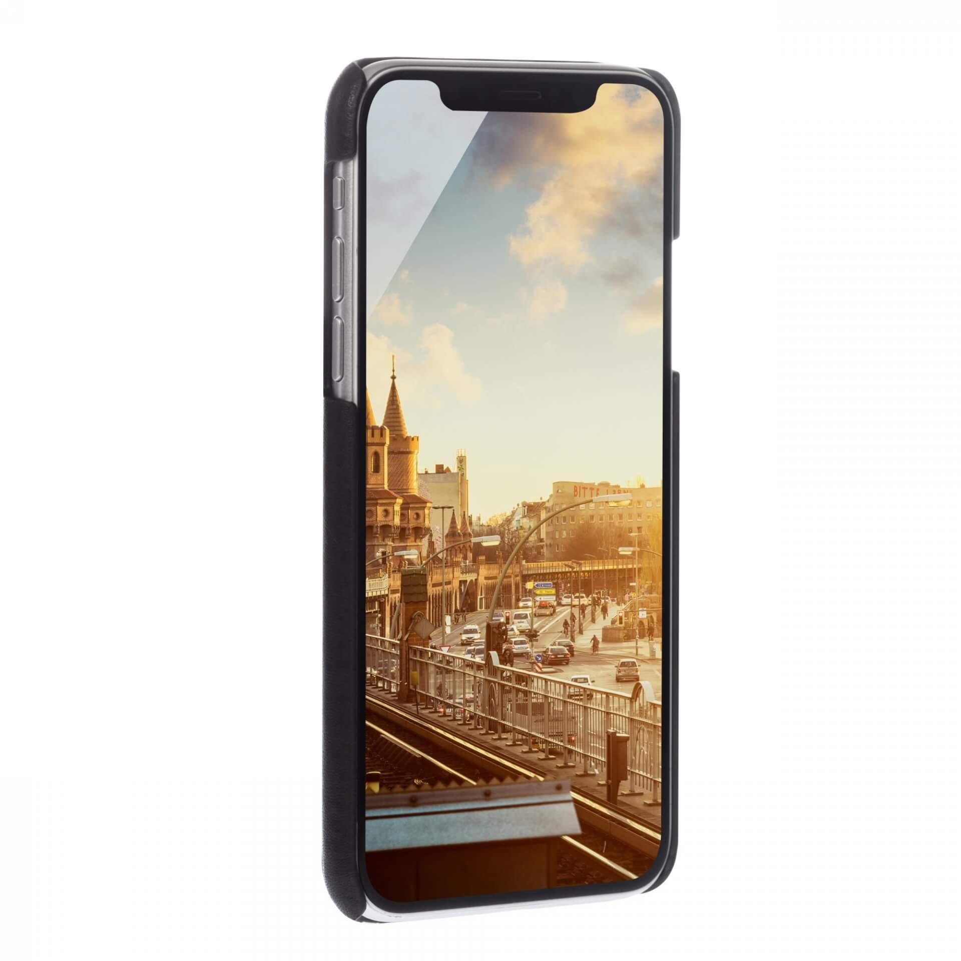 JT Berlin BackCase Kreuzberg — кожен кейс (естествена кожа) за iPhone 11 Pro (черен) - 4