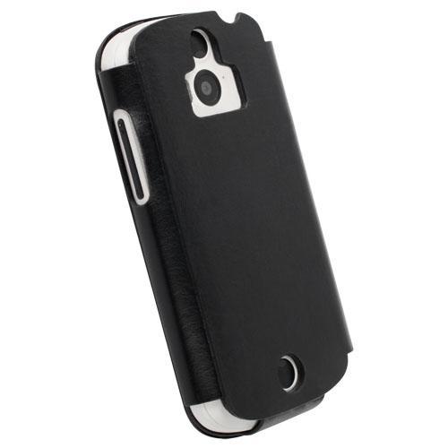 Krusell Donso FlipCover — калъф от естествена кожа за Acer Liquid E1 (черен) - 3
