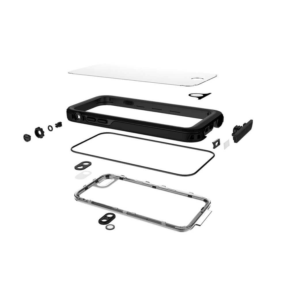 Liquipel AquaGuard Case — ударо и водоустойчив кейс за iPhone 8 Plus, iPhone 7 Plus (черен) - 2