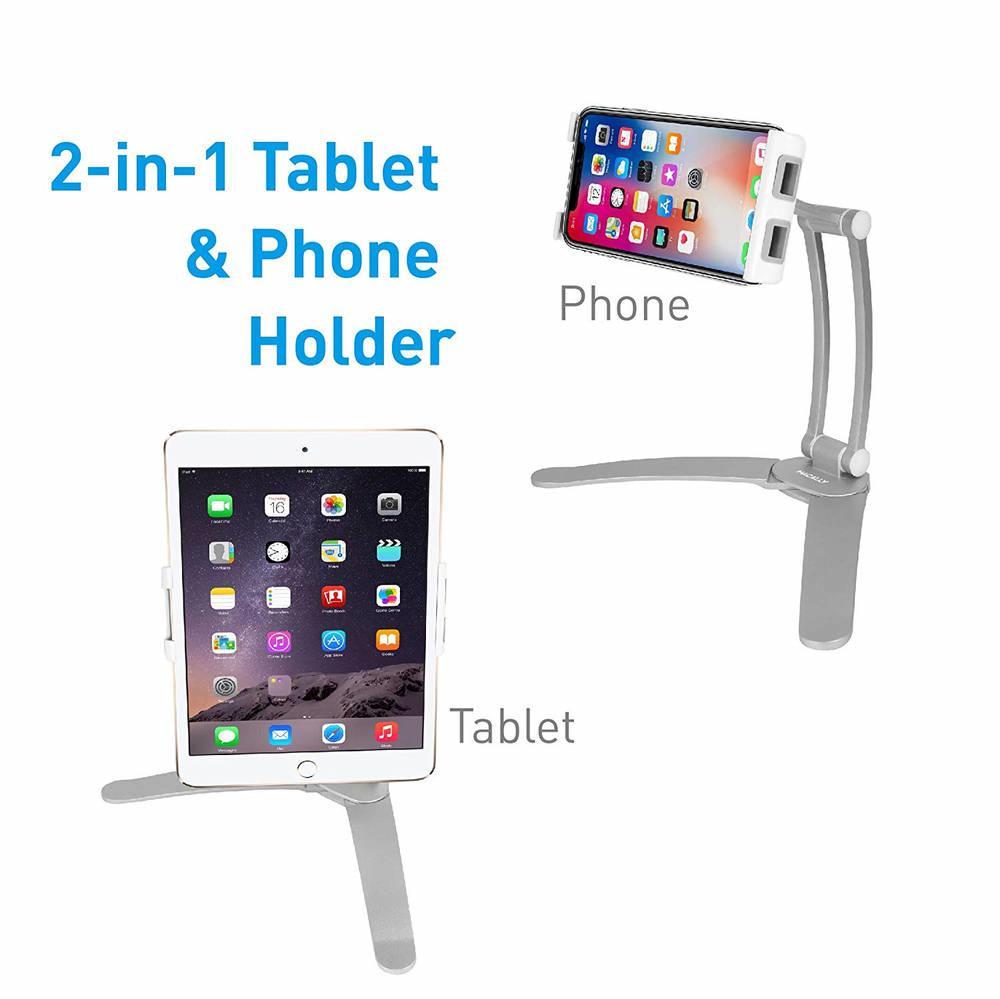 Macally Stand Wall Mount — универсална поставка за бюро, шкаф, стена и плоскости за мобилни устройства и таблети с ширина до 28 см - 3