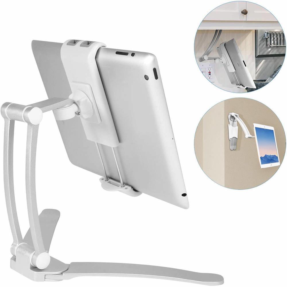 Macally Stand Wall Mount — универсална поставка за бюро, шкаф, стена и плоскости за мобилни устройства и таблети с ширина до 28 см - 1