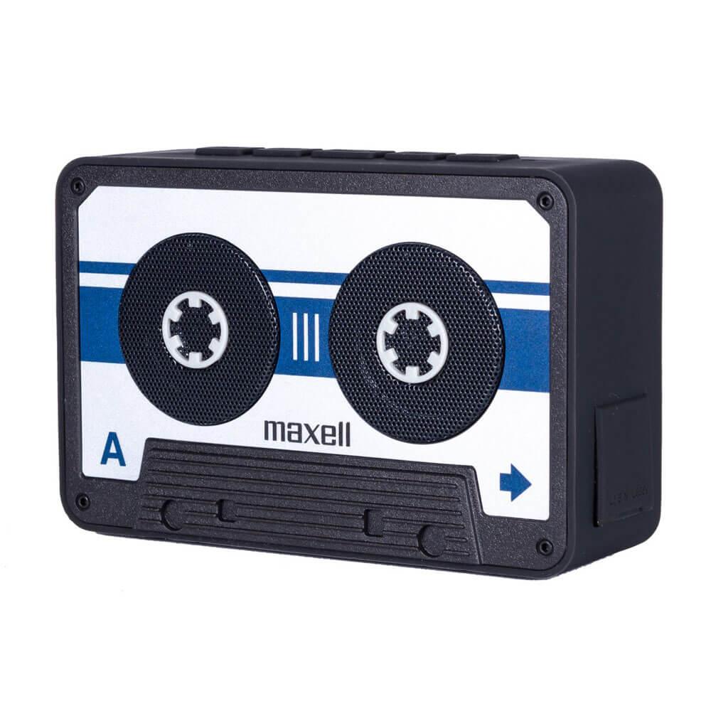 Maxell Bluetooth Casette Speaker — безжичен блутут спийкър с микрофон за мобилни устройства (сребрист) - 1