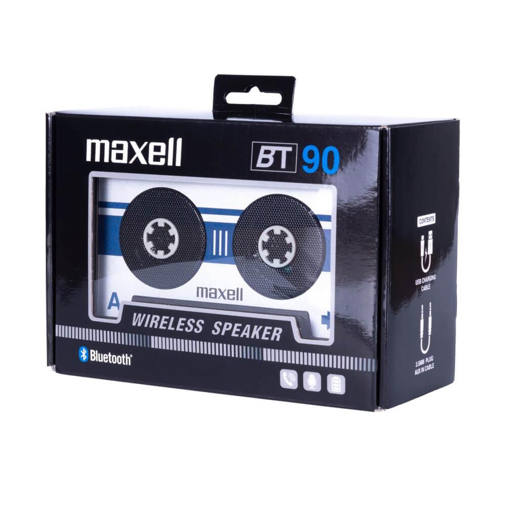 Maxell Bluetooth Casette Speaker — безжичен блутут спийкър с микрофон за мобилни устройства (сребрист) - 2
