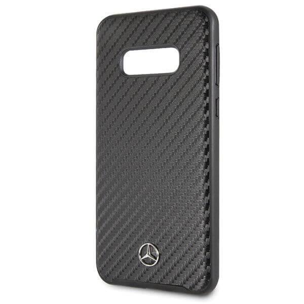 Mercedes-Benz Dynamic Leather Hard Case — дизайнерски кожен кейс за Samsung Galaxy S10E (черен) - 5