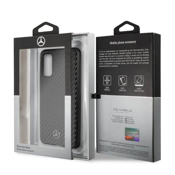 Mercedes-Benz Dynamic Leather Hard Case — дизайнерски кожен кейс за Samsung Galaxy S20 (черен) - 5