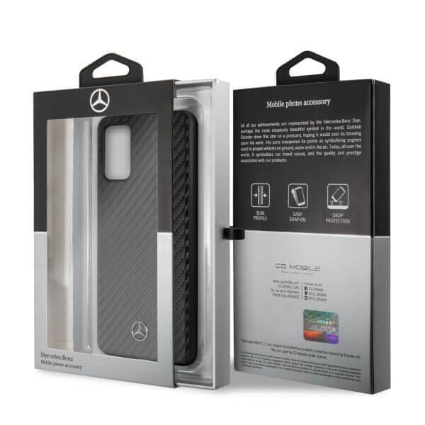 Mercedes-Benz Dynamic Leather Hard Case — дизайнерски кожен кейс за Samsung Galaxy S20 Plus (черен) - 3