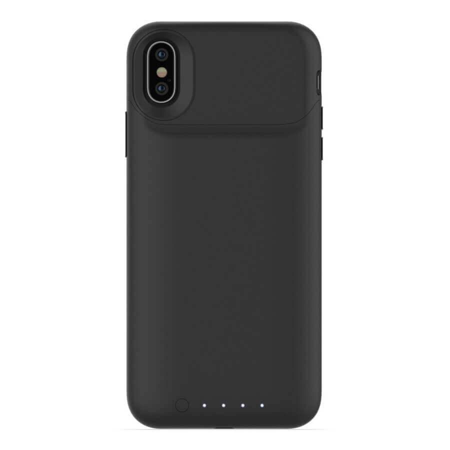 Mophie Juice Pack Air — удароустойчив кейс с вградена батерия 1720mAh и безжично зареждане за iPhone XS, iPhone X (черен) - 2