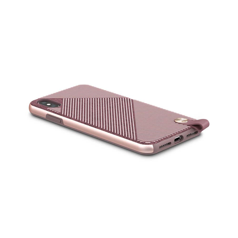 Moshi Altra Case — стилен удароустойчив кейс за iPhone XS Max (розов) - 2