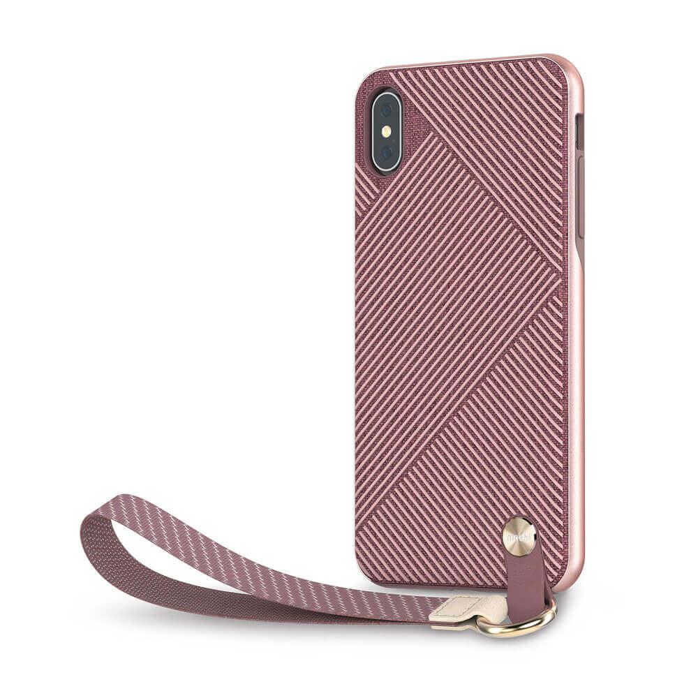 Moshi Altra Case — стилен удароустойчив кейс за iPhone XS Max (розов) - 1