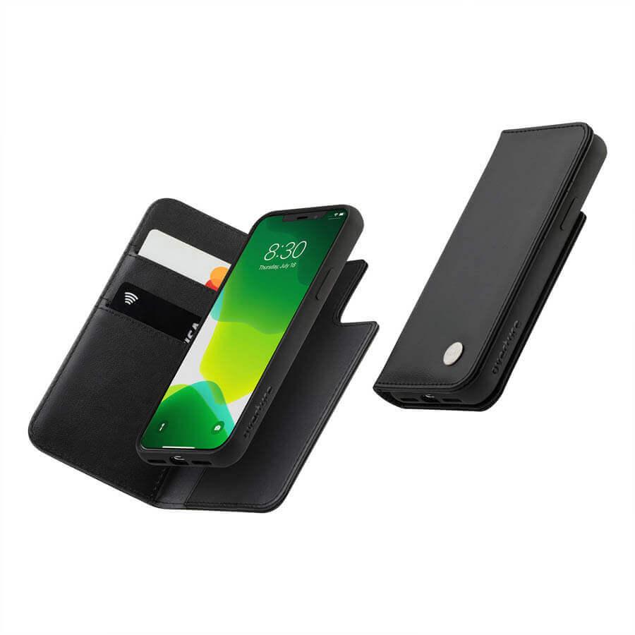 Moshi Overture Case — елегантен кожен калъф (с кейс) тип портфейл за iPhone 11 Pro (черен) - 2
