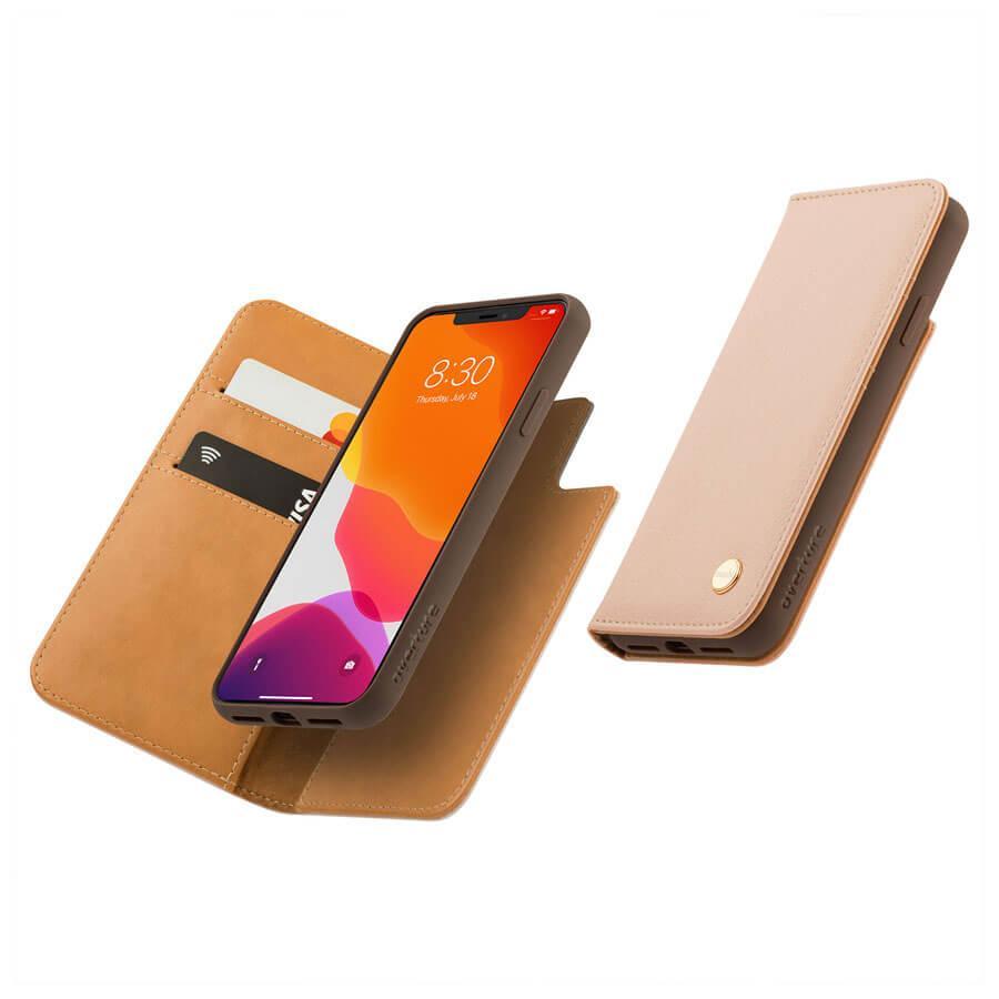 Moshi Overture SnapTo Case — елегантен кожен калъф (с кейс) тип портфейл за iPhone 11 Pro Max (розов) - 3