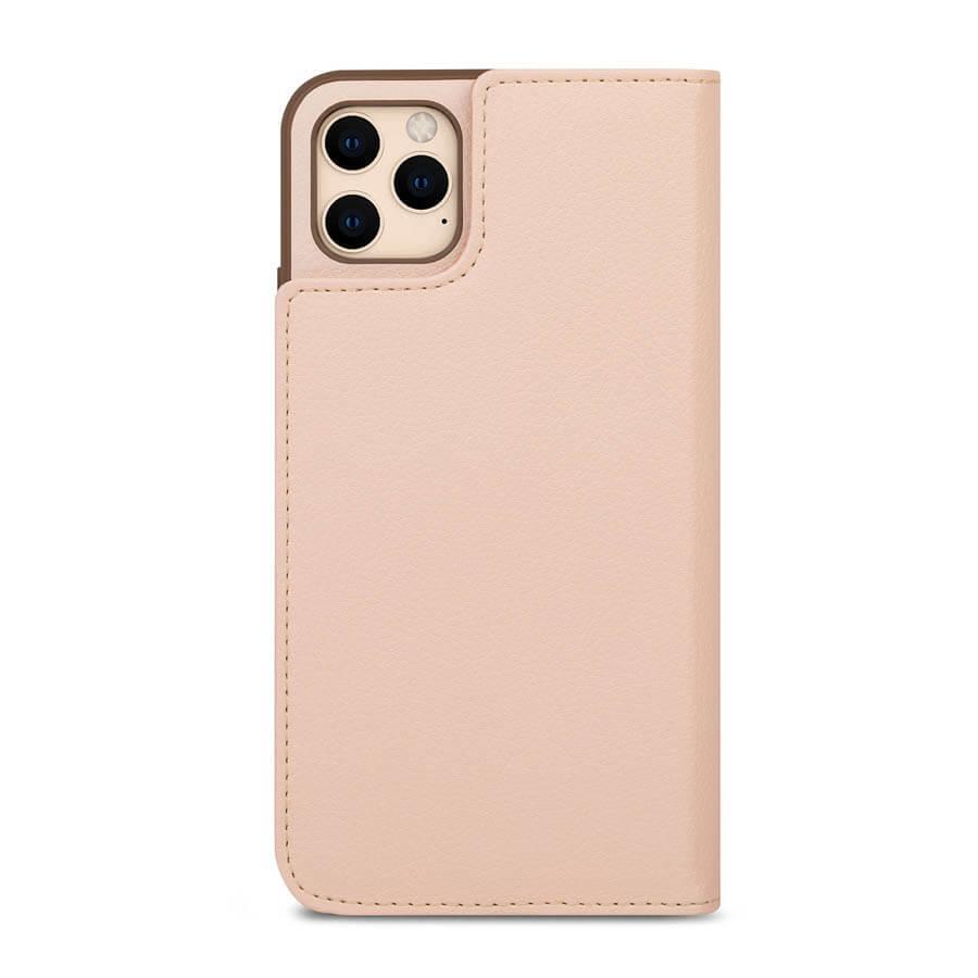 Moshi Overture SnapTo Case — елегантен кожен калъф (с кейс) тип портфейл за iPhone 11 Pro Max (розов) - 4