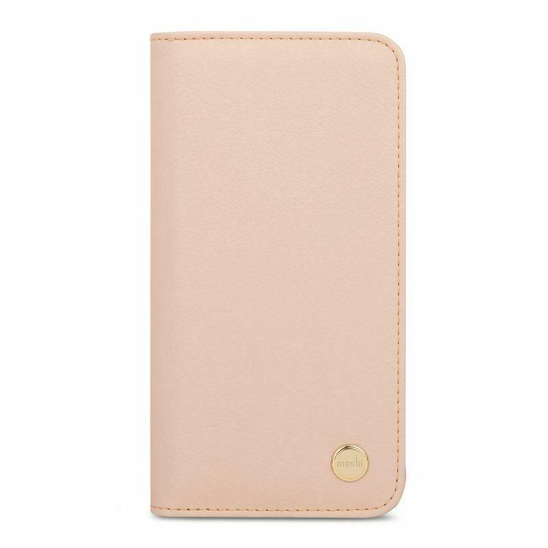 Moshi Overture SnapTo Case — елегантен кожен калъф (с кейс) тип портфейл за iPhone 11 Pro Max (розов) - 2