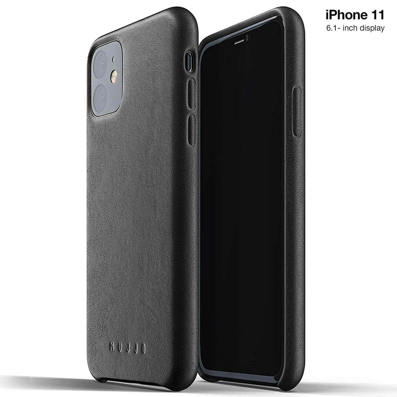 Mujjo Full Leather Case — кожен (естествена кожа) кейс за iPhone 11 (черен) - 1