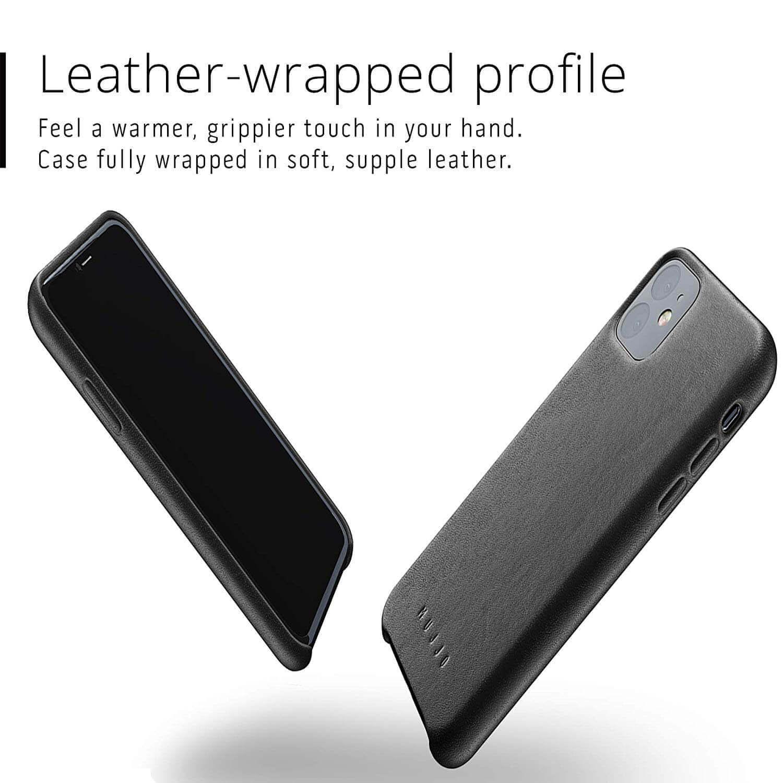 Mujjo Full Leather Case — кожен (естествена кожа) кейс за iPhone 11 (черен) - 4