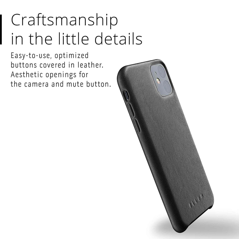 Mujjo Full Leather Case — кожен (естествена кожа) кейс за iPhone 11 (черен) - 2