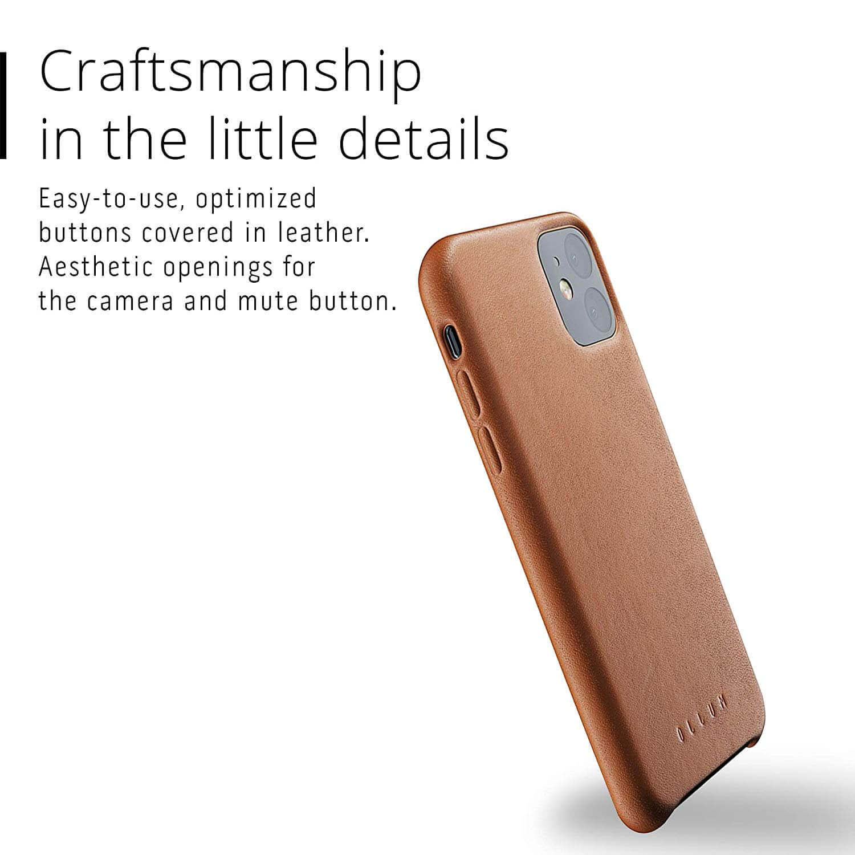 Mujjo Full Leather Case — кожен (естествена кожа) кейс за iPhone 11 (кафяв) - 4