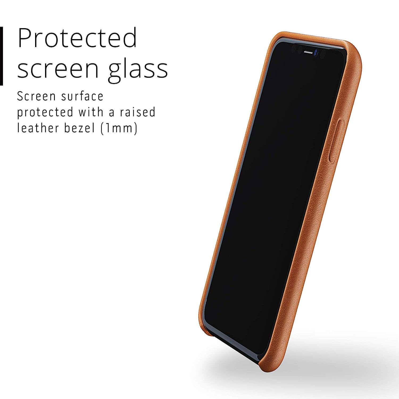 Mujjo Full Leather Case — кожен (естествена кожа) кейс за iPhone 11 (кафяв) - 3