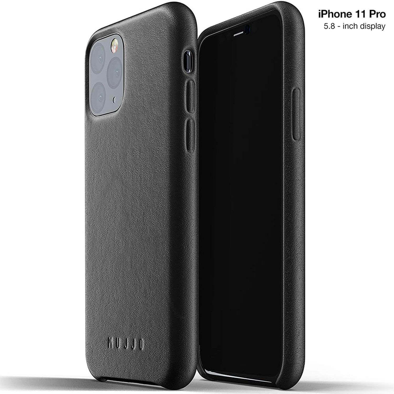 Mujjo Full Leather Case — кожен (естествена кожа) кейс за iPhone 11 Pro (черен) - 1
