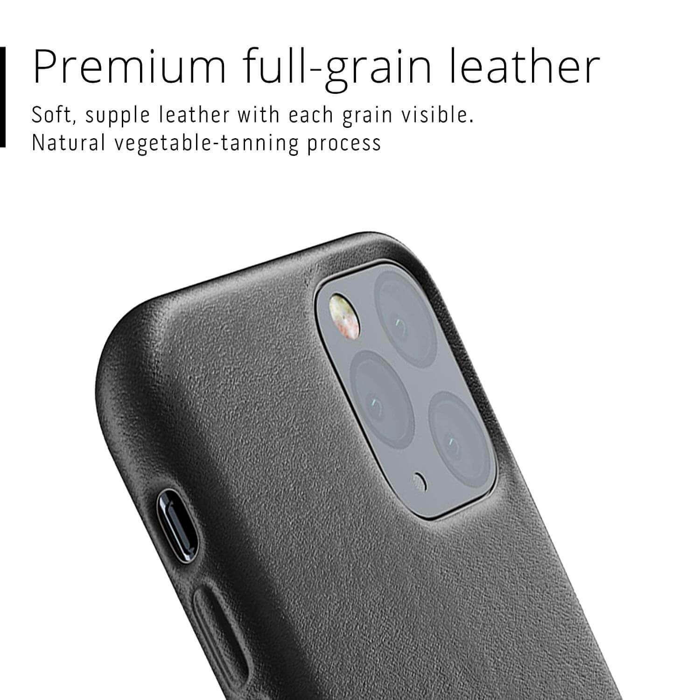 Mujjo Full Leather Case — кожен (естествена кожа) кейс за iPhone 11 Pro (черен) - 4