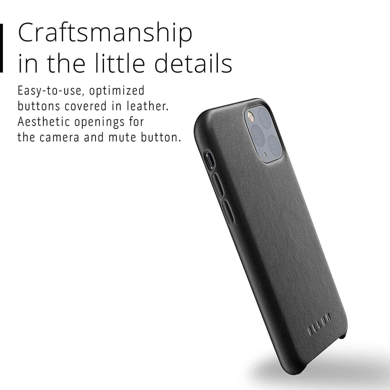 Mujjo Full Leather Case — кожен (естествена кожа) кейс за iPhone 11 Pro (черен) - 5