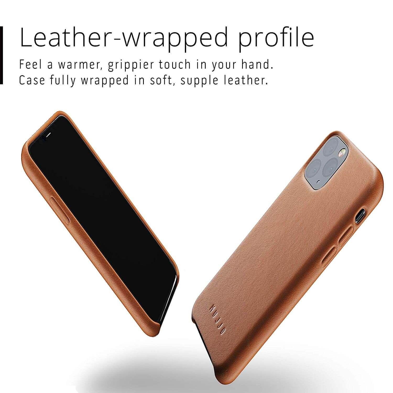 Mujjo Full Leather Case — кожен (естествена кожа) кейс за iPhone 11 Pro (кафяв) - 4