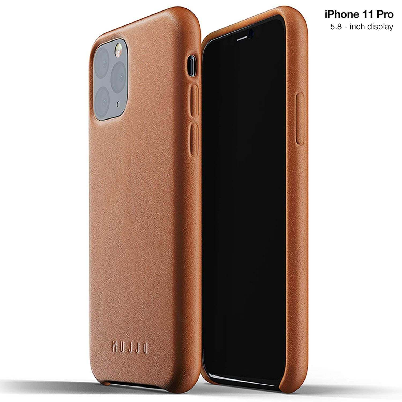 Mujjo Full Leather Case — кожен (естествена кожа) кейс за iPhone 11 Pro (кафяв) - 1