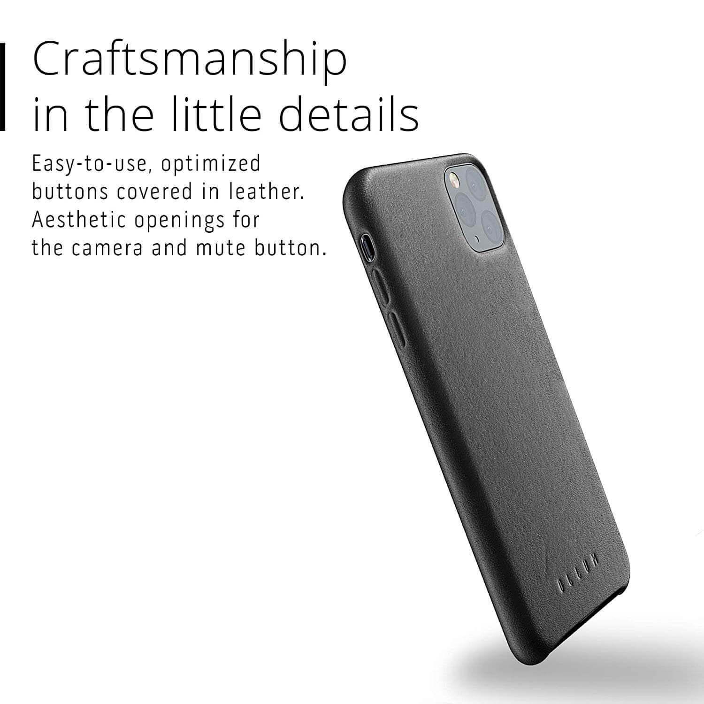 Mujjo Full Leather Case — кожен (естествена кожа) кейс за iPhone 11 Pro Max (черен) - 3