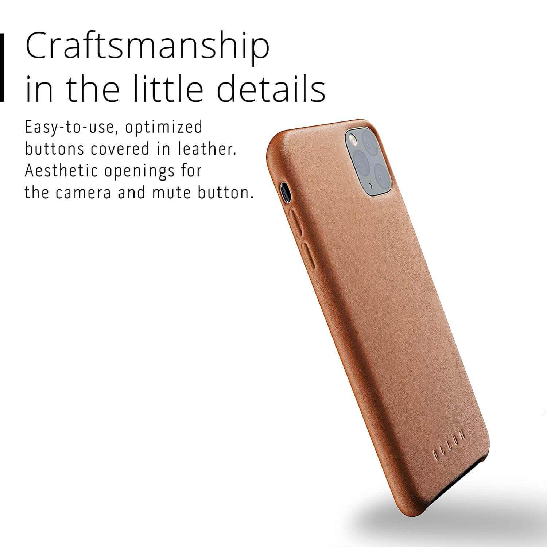 Mujjo Full Leather Case — кожен (естествена кожа) кейс за iPhone 11 Pro Max (кафяв) - 4