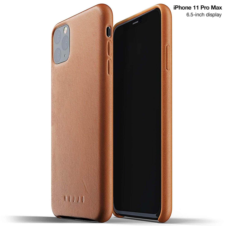 Mujjo Full Leather Case — кожен (естествена кожа) кейс за iPhone 11 Pro Max (кафяв) - 1