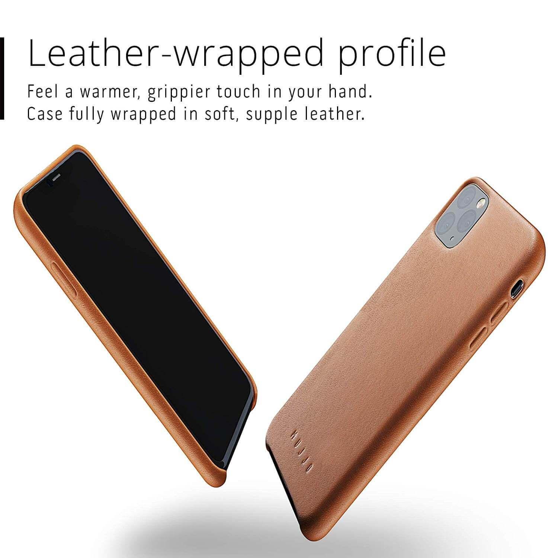Mujjo Full Leather Case — кожен (естествена кожа) кейс за iPhone 11 Pro Max (кафяв) - 3