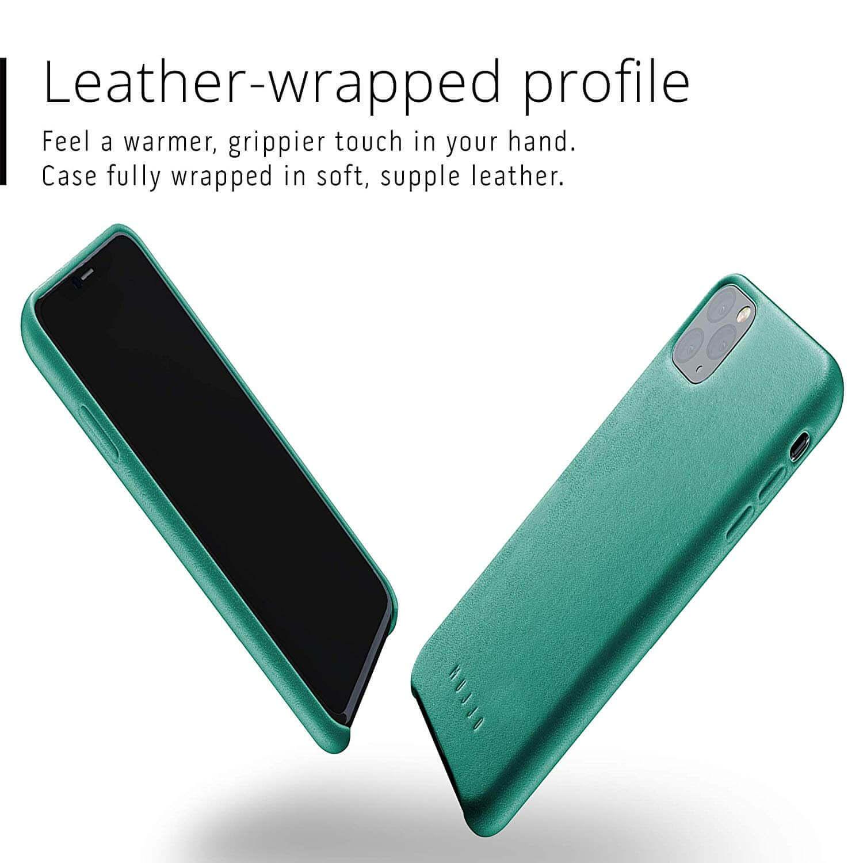 Mujjo Full Leather Case — кожен (естествена кожа) кейс за iPhone 11 Pro Max (зелен) - 5