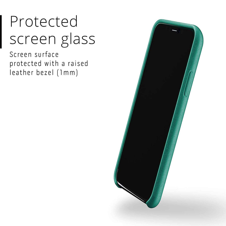 Mujjo Full Leather Case — кожен (естествена кожа) кейс за iPhone 11 Pro (зелен) - 4