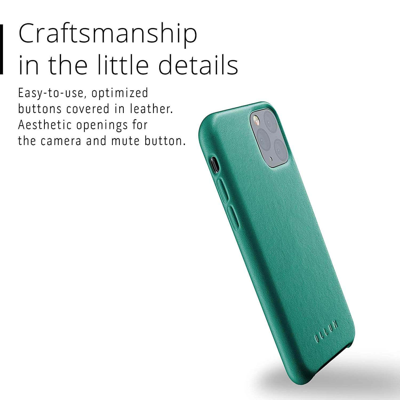 Mujjo Full Leather Case — кожен (естествена кожа) кейс за iPhone 11 Pro (зелен) - 2