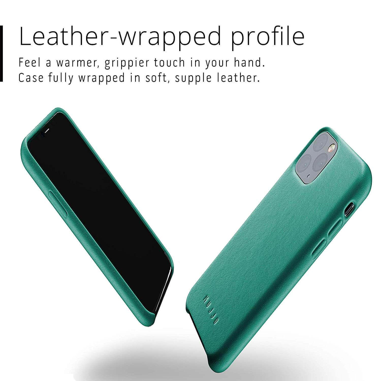 Mujjo Full Leather Case — кожен (естествена кожа) кейс за iPhone 11 Pro (зелен) - 3