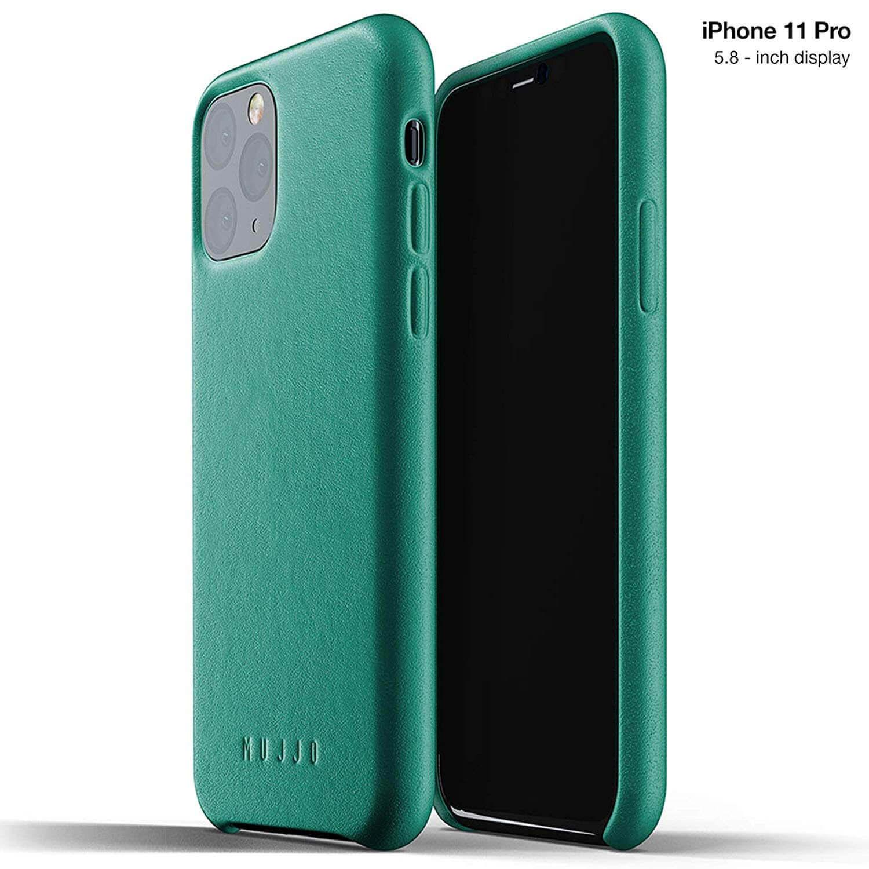 Mujjo Full Leather Case — кожен (естествена кожа) кейс за iPhone 11 Pro (зелен) - 1